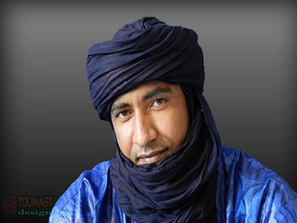 Mossa Ag Attaher, charg� de communication du MNLA (Mouvement national de lib�ration de l'Azawad)