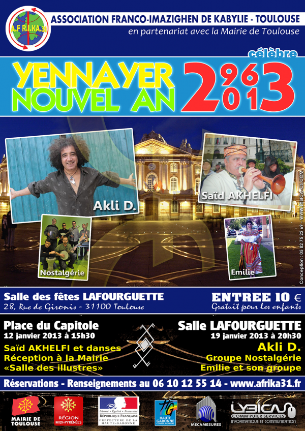 Nouvel an amazigh 2963 toulouse for Haute kabylie
